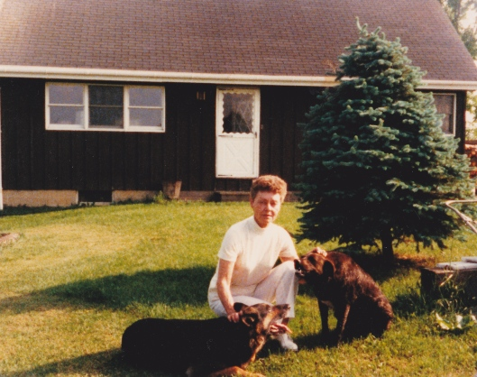 My Aunt Georgia in front of her home in Lapeer, Michigan.