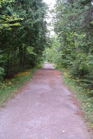 A road on the interior portion of Mackinac Island, Michigan