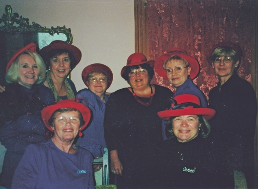 At least two of the members of this Red Hat group were folks that my Mom knew through work.
