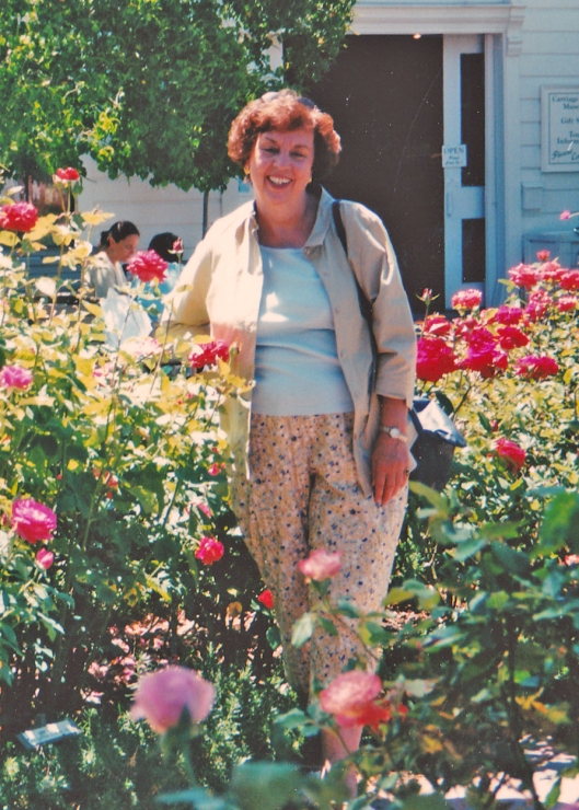 A favorite photo of mine.  I took this of Mom when she visited us in 2000.  This was taken at the Luther Burbank Gardens in Santa Rosa, California.